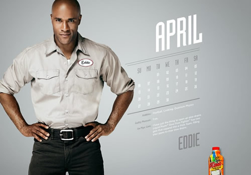 Liquid Plumr Calendar: Mr. April