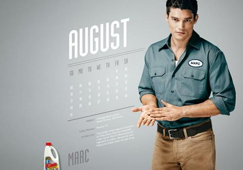 Liquid Plumr Calendar: Mr. August
