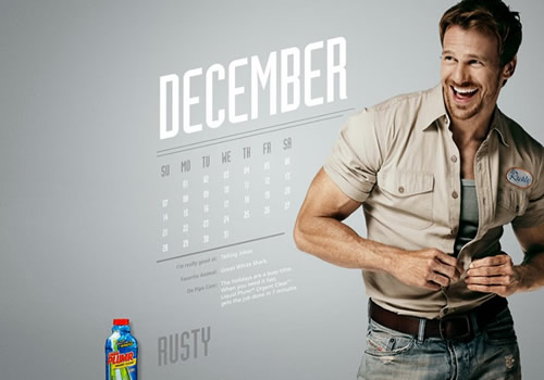 Liquid Plumr Calendar: Mr. December - Rusty Joiner